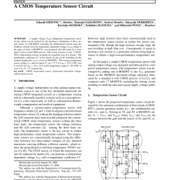 pdf a temperature and supply voltage independent cmos voltage reference circuit  [ 850 x 1135 Pixel ]