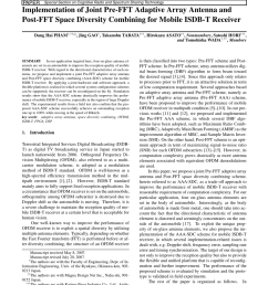 pdf implementation of joint pre fft adaptive array antenna and post fft space diversity combining for mobile isdb t receiver [ 850 x 1135 Pixel ]