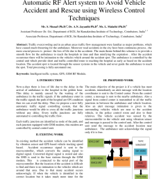 pdf automatic rf alert system to avoid vehicle accident and rescue using wireless control techniques [ 850 x 1202 Pixel ]