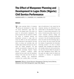pdf the effect of manpower planning and development in lagos state nigeria  [ 850 x 1203 Pixel ]