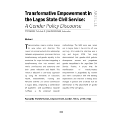 pdf transformative empowerment in the lagos state civil service a gender policy discourse [ 850 x 1100 Pixel ]