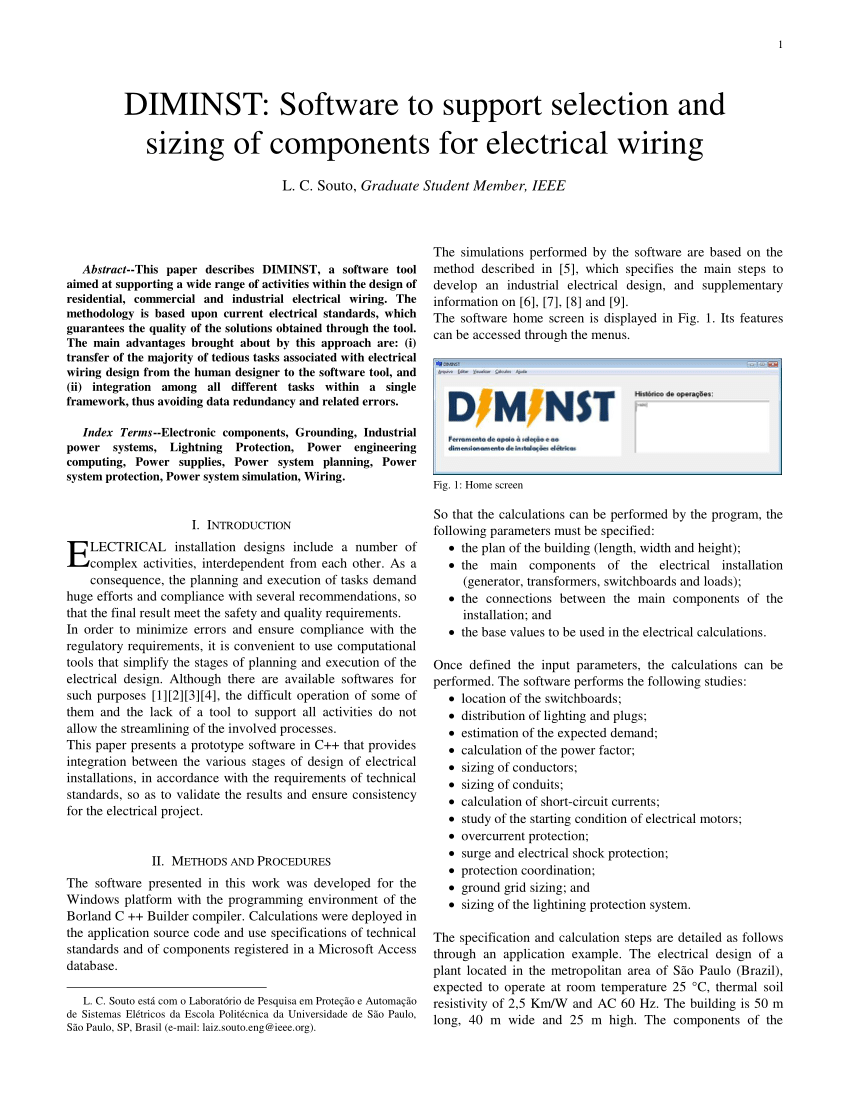 hight resolution of  pdf diminst software to support selection and sizing of components for electrical wiring