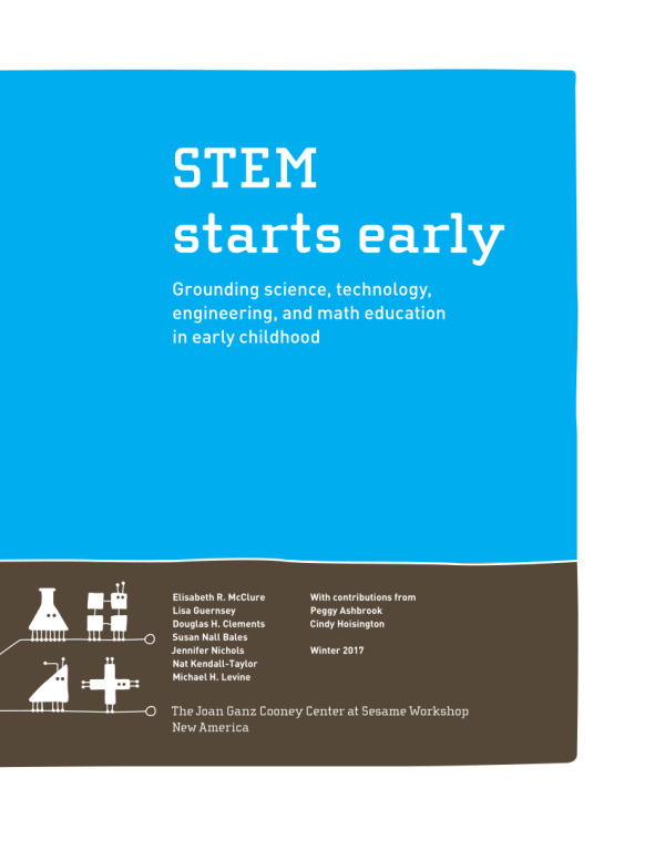 Pdf Stem Starts Early Grounding Science Technology