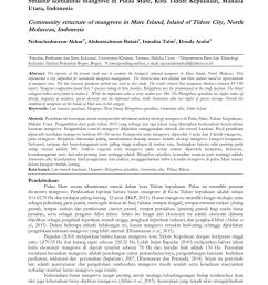 pdf struktur komunitas dan pemetaan ekosistem mangrove di pesisir pulau maitara provinsi maluku utara indonesia [ 850 x 1202 Pixel ]