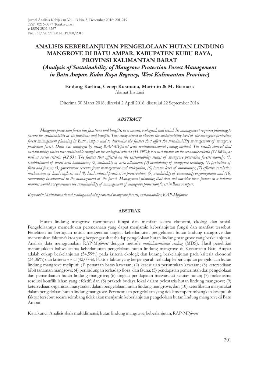 medium resolution of  pdf strategi keberlanjutan pengelolaan hutan mangrove di tahura ngurah rai bali