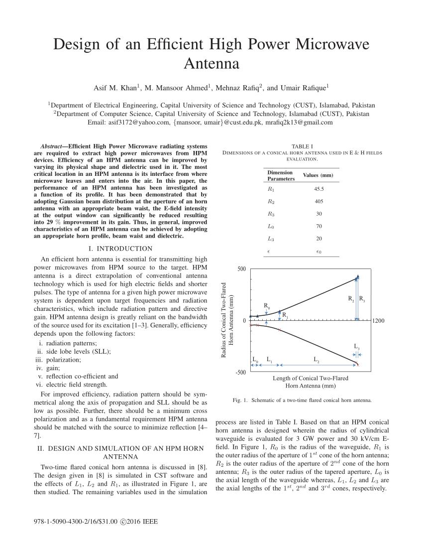 medium resolution of  pdf design of an efficient high power microwave antenna