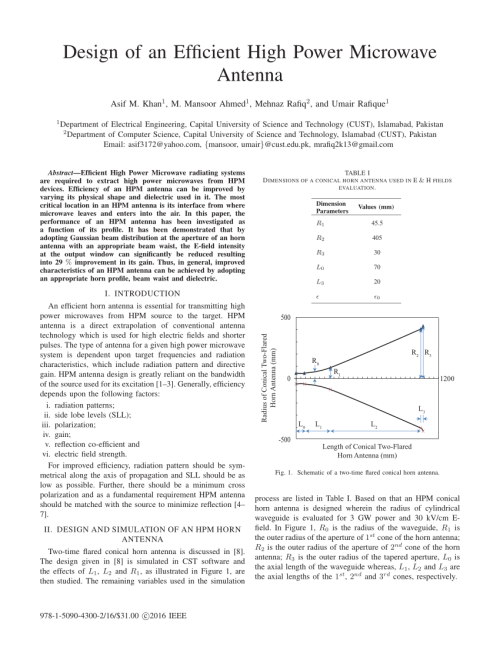 small resolution of  pdf design of an efficient high power microwave antenna