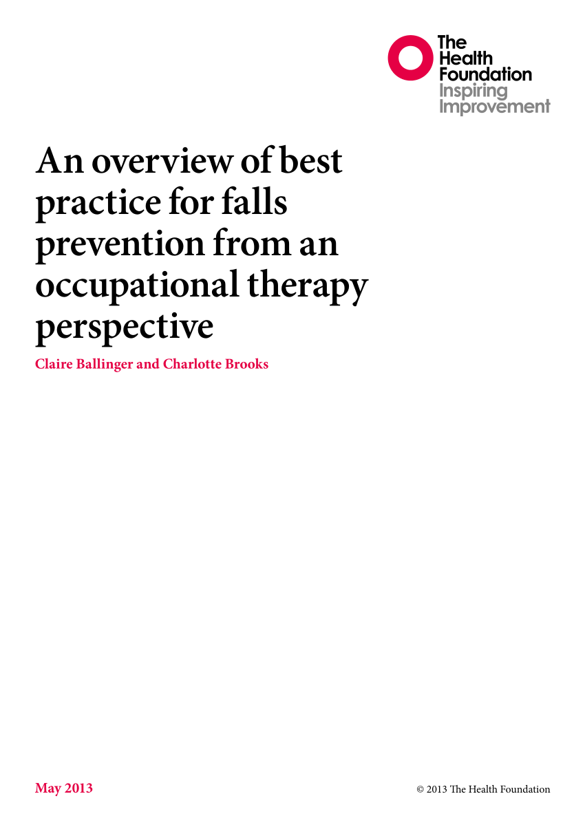 (PDF) An overview of best practice for falls prevention