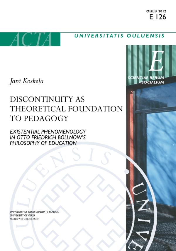 Pdf Discontinuity Theoretical Foundation Pedagogy