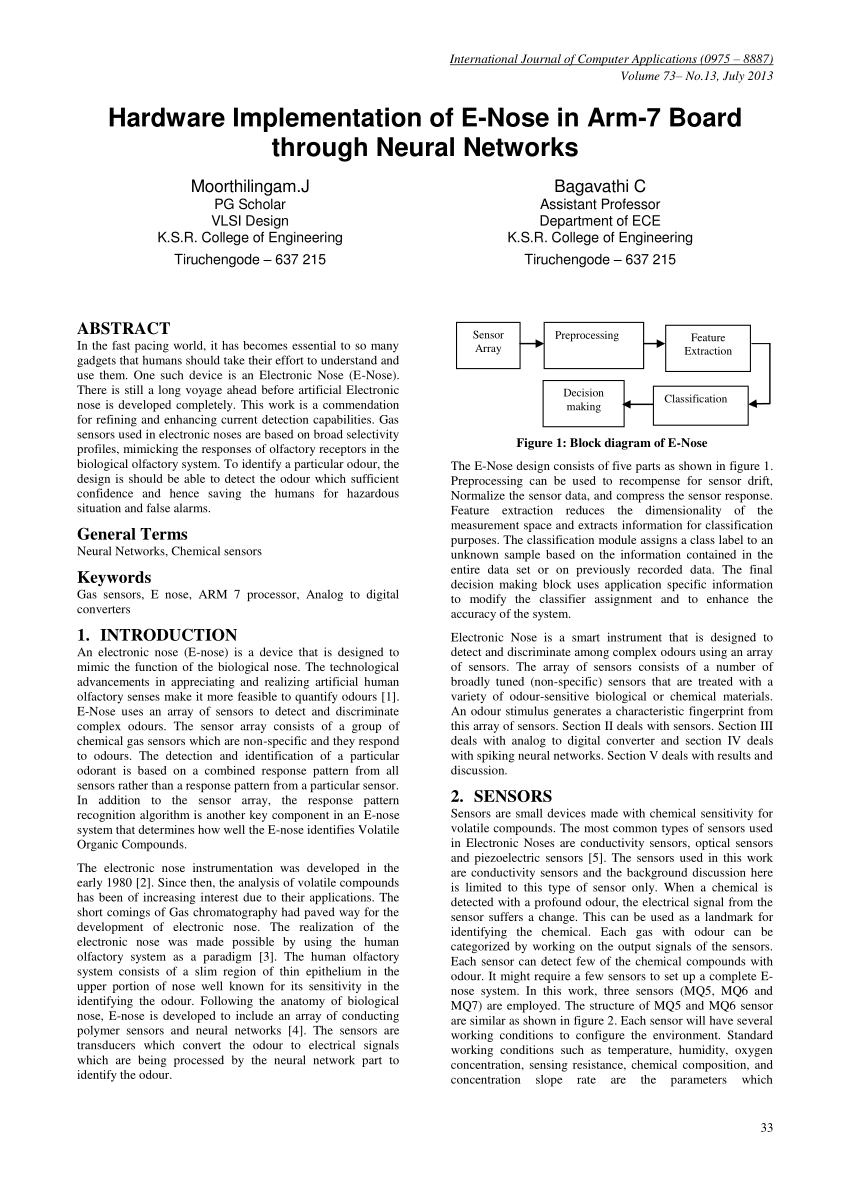 medium resolution of  pdf hardware implementation of e nose in arm 7 board through neural networks