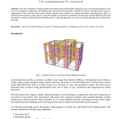 Baja Ringan Nasa Pdf Parametric Based Interactive Modeling Of Cold Formed Steel