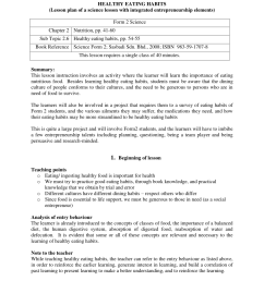 PDF) HEALTHY EATING HABITS (Lesson plan of a science lesson with integrated  entrepreneurship elements) [ 1100 x 850 Pixel ]