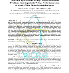 pdf application of load tap changing transformer ltct to the optimal economic dispatch of generation of the nigerian 330kv grid system [ 850 x 1202 Pixel ]
