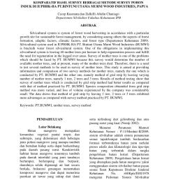 pdf komparatif hasil survey berbagai metode survey pohon induk di iuphhk ha pt bintuni utama murni wood industries papua [ 850 x 1100 Pixel ]