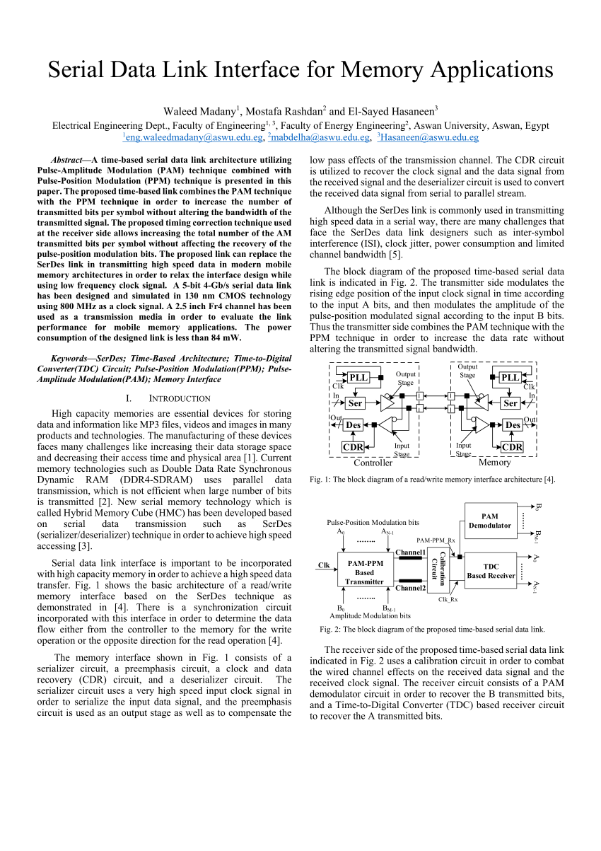 hight resolution of  pdf differential time and pulse amplitude modulation signaling for serial link transceivers
