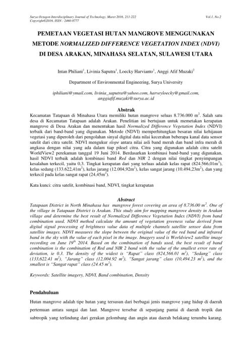 small resolution of  pdf pemetaan vegetasi hutan mangrove menggunakan metode normalized difference vegetation index ndvi di desa arakan minahasa selatan sulawesi utara