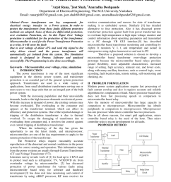pdf simulation of power transformer protection using microcontroller relay [ 850 x 1100 Pixel ]