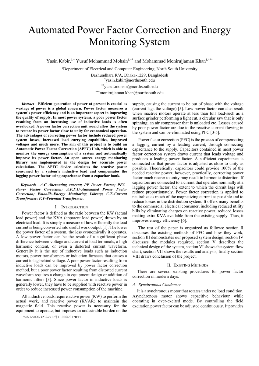 medium resolution of  pdf automated power factor correction and energy monitoring system