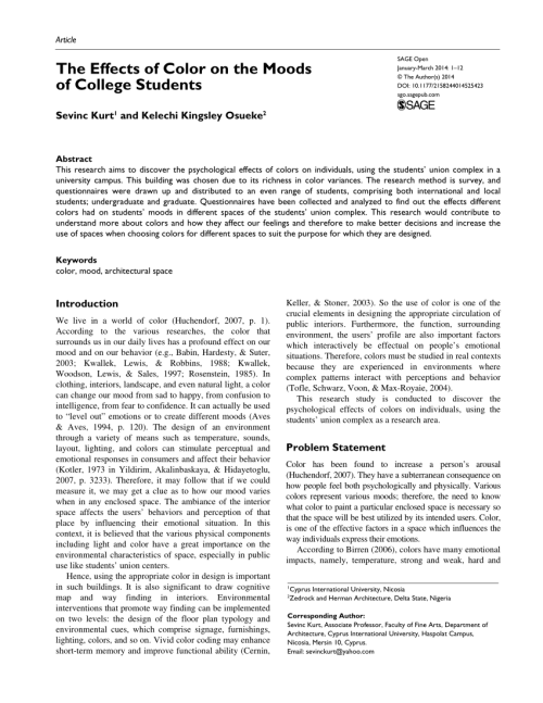 small resolution of PDF) The Effects of Color on the Moods of College Students