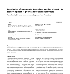 pdf contribution of microreactor technology and flow chemistry to the development of green and sustainable synthesis [ 850 x 1203 Pixel ]