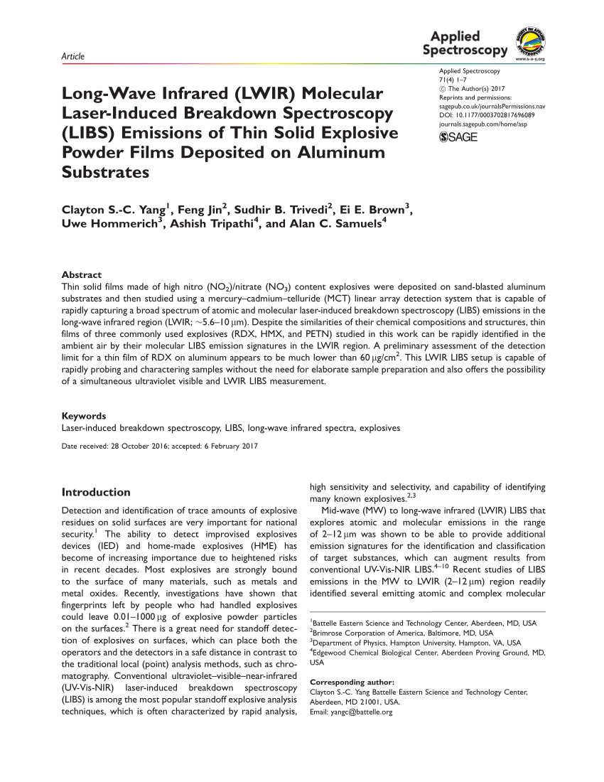medium resolution of so 4 emission feature in lwir libs spectra of gunpowder after fitting download scientific diagram