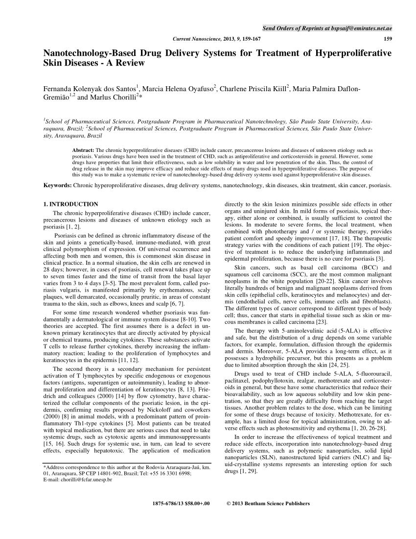 Nanotechnology Based Drug Delivery PDF Download Available