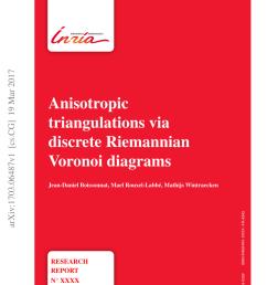 pdf anisotropic triangulations via discrete riemannian voronoi diagrams [ 850 x 1202 Pixel ]