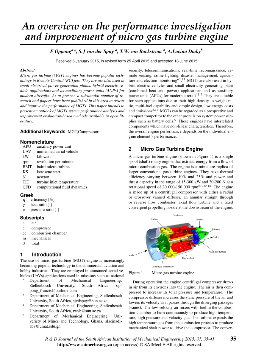 hight resolution of  pdf an overview of micro gas turbine engine performance investigation