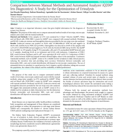 pdf comparison between manual methods and automated analyzer iq200 iris diagnostics a study for the optimization of urinalysis [ 850 x 1202 Pixel ]