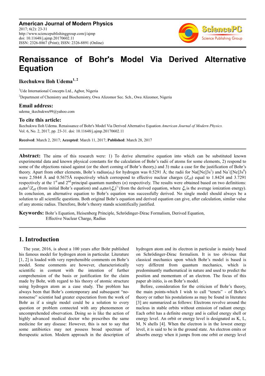 medium resolution of  pdf 100th anniversary of bohr s model of the atom
