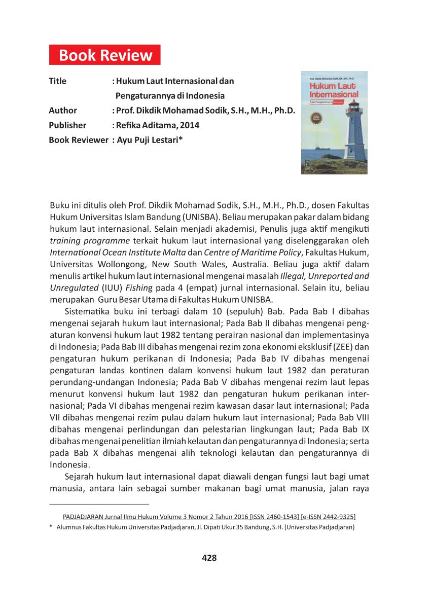 Isi Konvensi Hukum Laut Internasional Tahun 1982 : konvensi, hukum, internasional, tahun, Review:, Hukum, Internasional, Pengaturannya, Indonesia