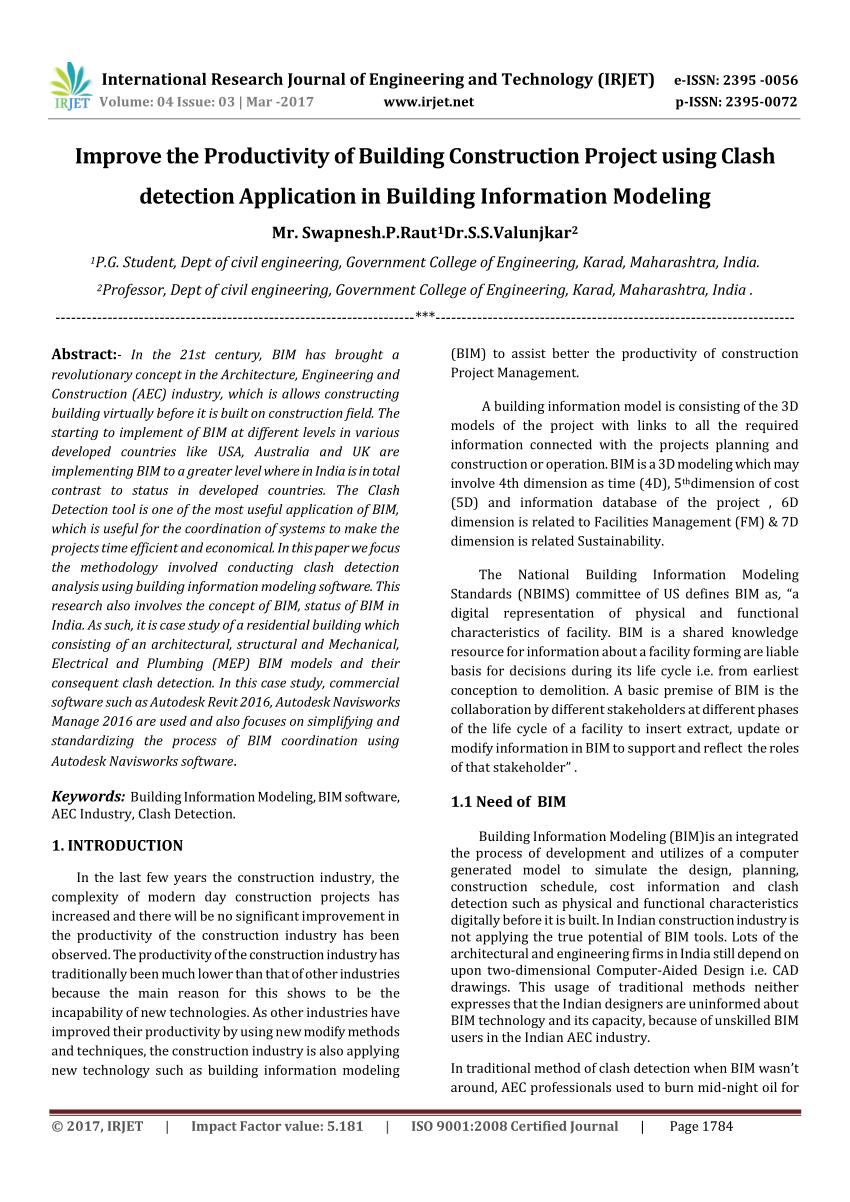 PDF Improve The Productivity Of Building Construction