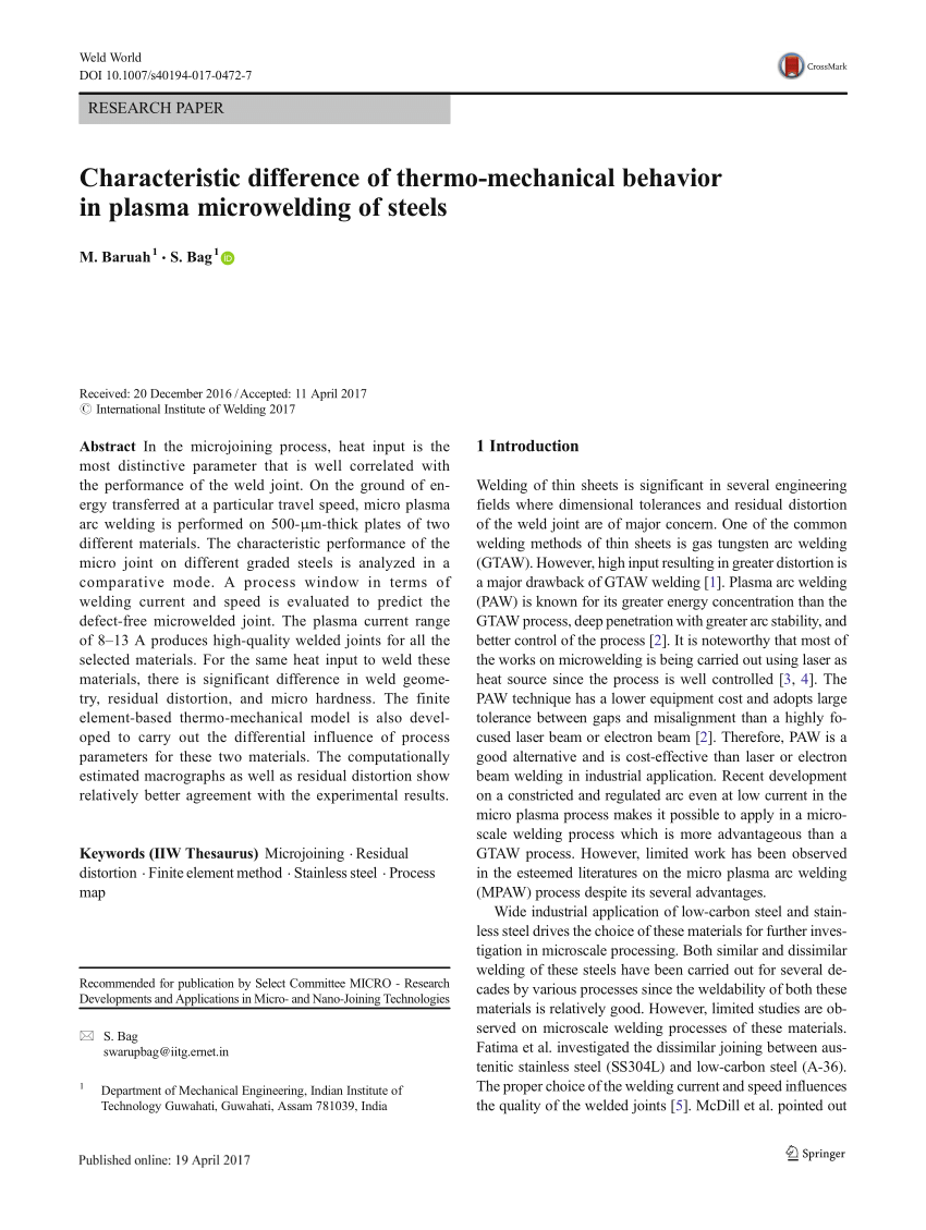 medium resolution of influence of displacement constraints in thermomechanical analysis of laser micro spot welding process request pdf