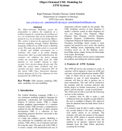 pdf object oriented uml modeling for atm systems [ 850 x 1100 Pixel ]