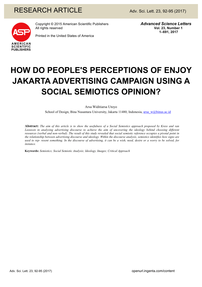 Enjoy Jakarta Png : enjoy, jakarta, People's, Perceptions, Enjoy, Jakarta, Advertising, Campaign, Using, Social, Semiotics, Opinion?