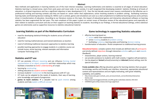 Pdf Literature Review On Educational Games For Learning