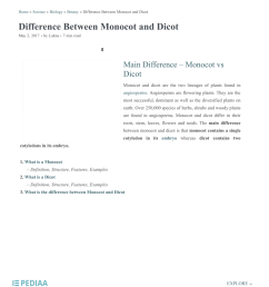 pdf home science biology botany difference between monocot and dicot difference between monocot and dicot [ 850 x 1100 Pixel ]