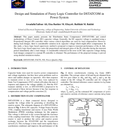 pdf design and simulation of fuzzy logic controller for dstatcom in power system [ 850 x 1202 Pixel ]