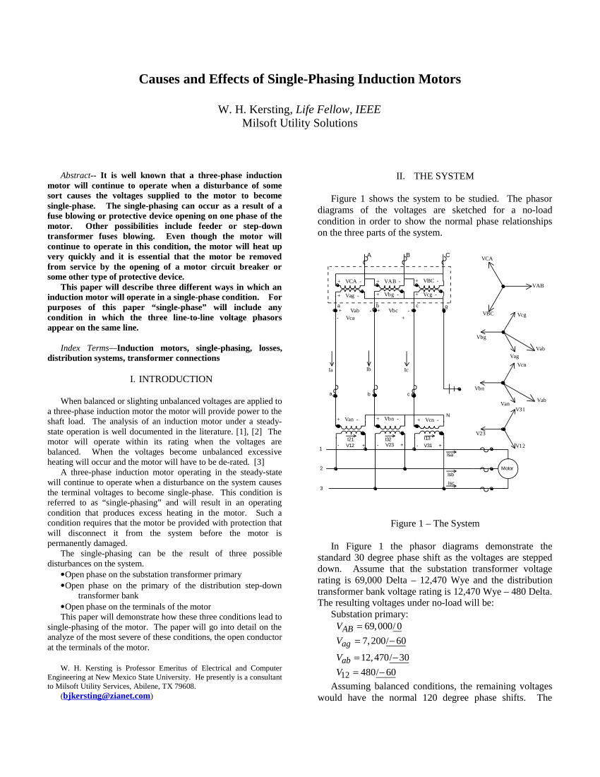 medium resolution of  pdf causes and effects of single phasing induction motors