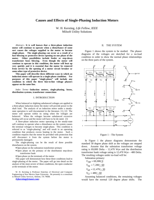 small resolution of  pdf causes and effects of single phasing induction motors