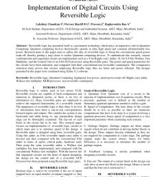 pdf implementation of digital circuits using reversible logic [ 850 x 1202 Pixel ]
