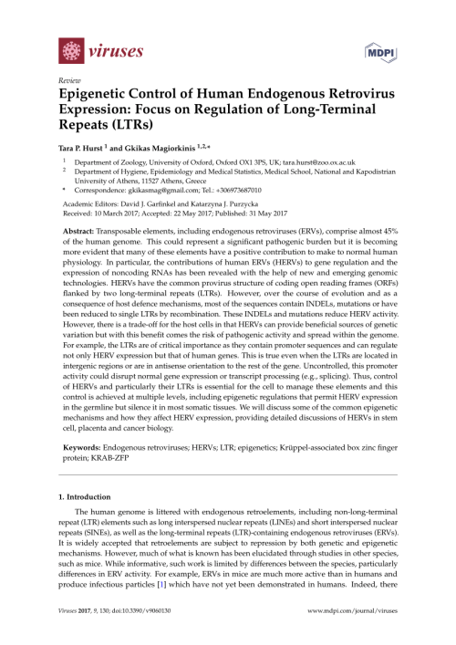 small resolution of  pdf endogenous retroviral promoter exaptation in human cancer
