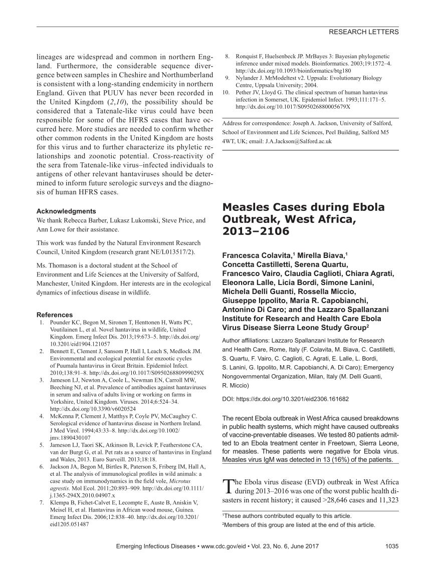 Analysis of factors associated with seropositivity to hantaviruses ...