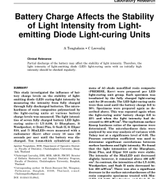 pdf battery charge affects the stability of light intensity from light emitting diode light curing units [ 850 x 1100 Pixel ]
