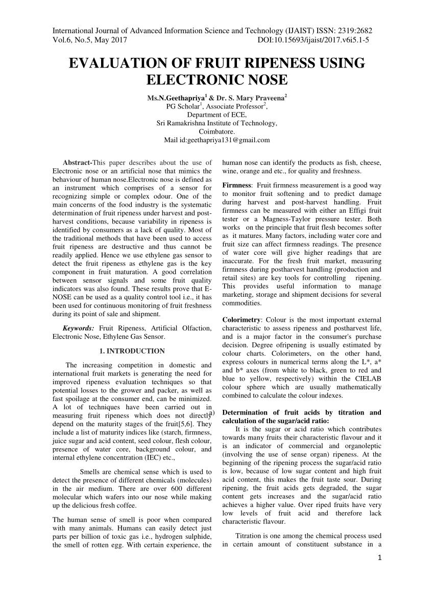 medium resolution of  pdf evaluation of fruit ripeness using electronic nose