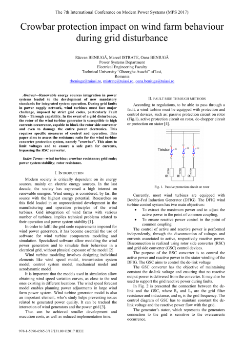 small resolution of  pdf crowbar system in doubly fed induction wind generators