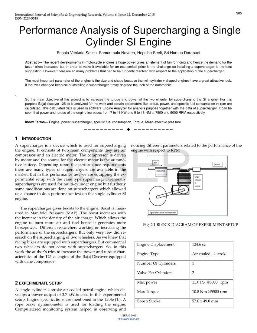 medium resolution of  pdf performance analysis of supercharging a single cylinder si engine