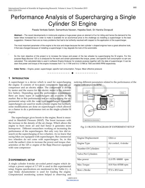 small resolution of  pdf performance analysis of supercharging a single cylinder si engine