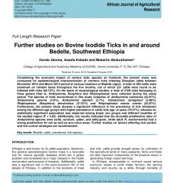 pdf further studies on bovine ixodide ticks in and around bedelle southwest ethiopia [ 850 x 1100 Pixel ]