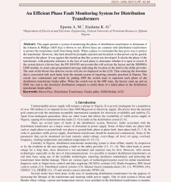pdf an efficient phase fault monitoring system for distribution transformers [ 850 x 1203 Pixel ]